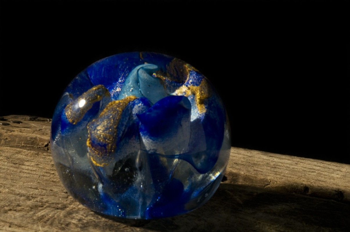a blown glass paperweight Unique antique and vintage