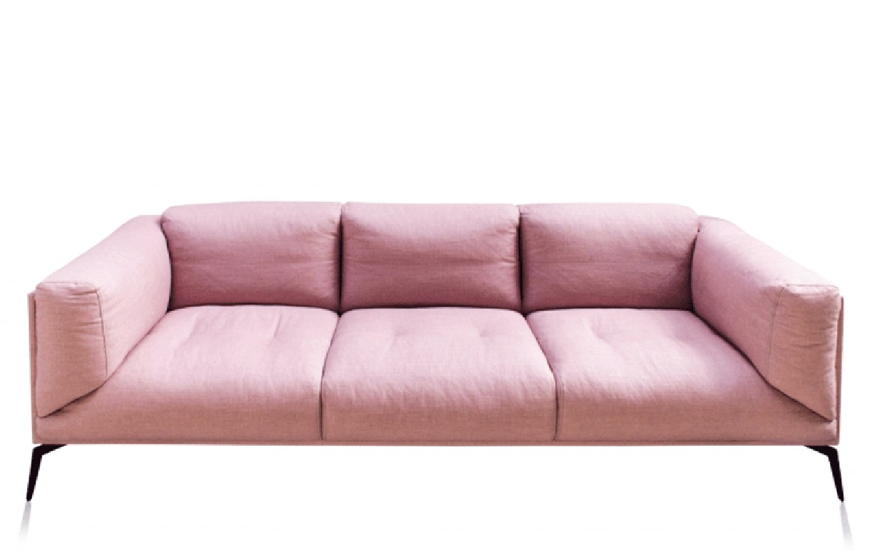 pink leather sofas serta sofa bed colours the roger covered with light linen imposes us