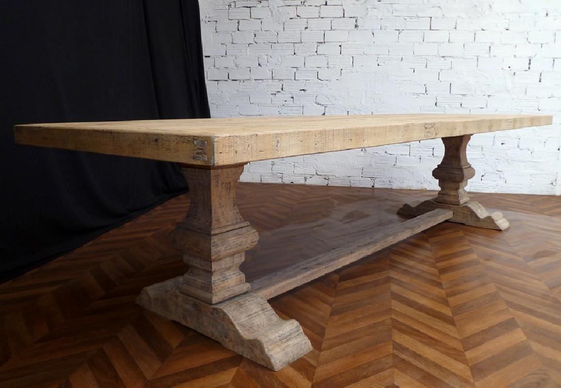 table de ferme monastere en bois brut