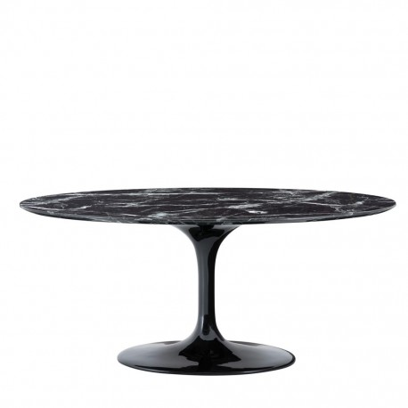 beautiful contemporary round black design table with its 170cm diameter plate