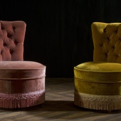 Pink Salon Chairs Keekaroo High Chair Review Fauteuil Crapaud Vintage Ancien Velours Capitonné 1950