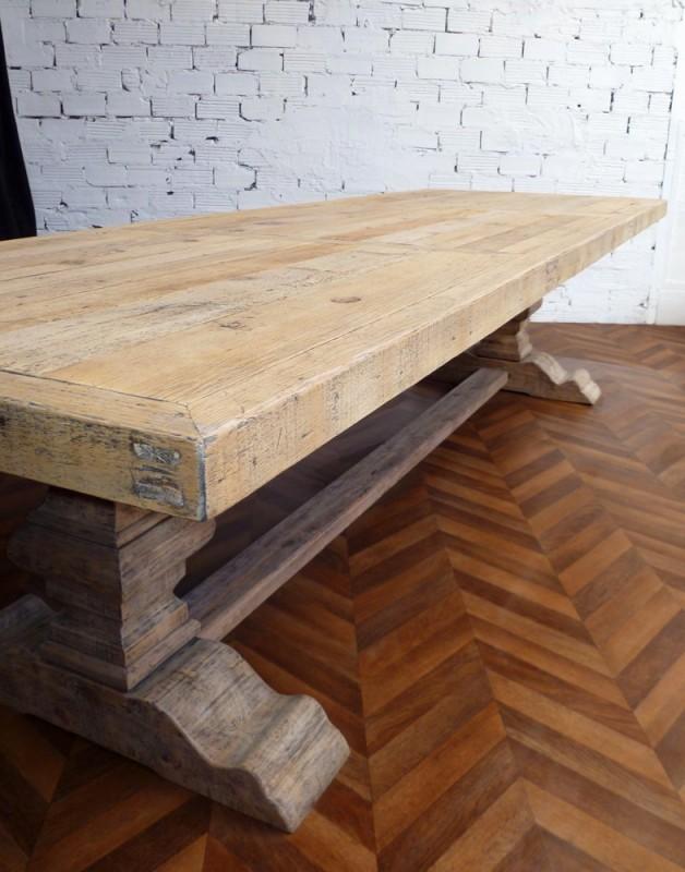 grande table de ferme table monastre ancienne en bois massif de campagne salle  manger