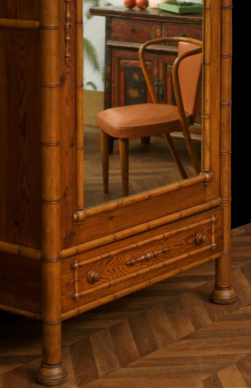 armoire vintage meubles anciens armoire ancienne en bambou pices uniques annes 1920