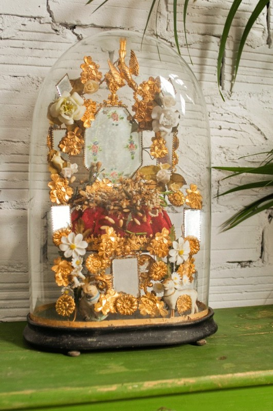globe de marie globe de marie ancien vintage Napolon III bouquet de marie curiosit
