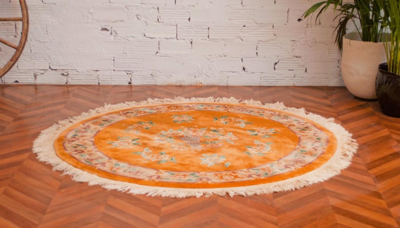 tapis anciens tapis vintage tapis ancien rond en laine paisse motifs style 1900 objet