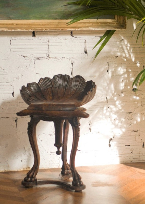 tabouret piano siges piano ancien style rgence Louis XV pattes dours noyer antiquits