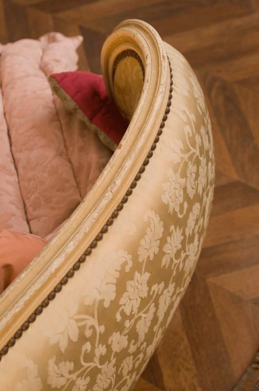 lit baroque lit corbeille ancien style baroque annes 50 1950 satin couleur ivoire