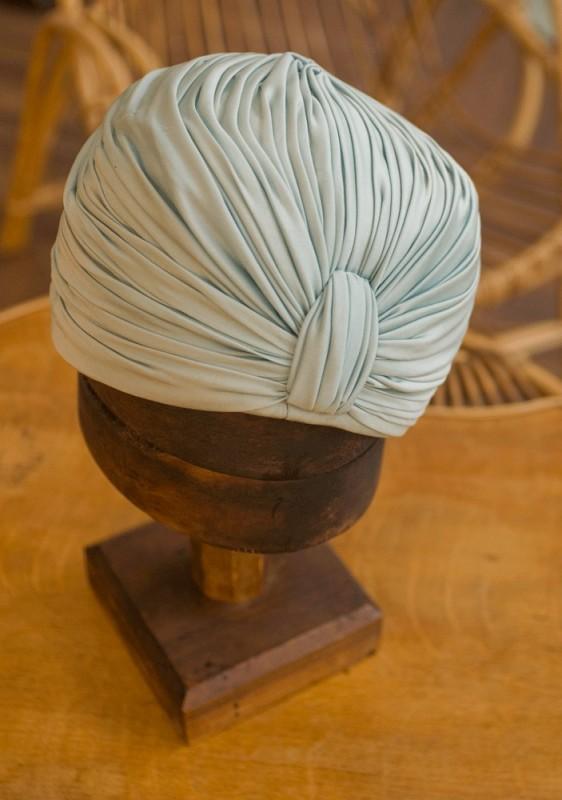 coiffure turban chapeau annes 1930 1960 vert rtro vintage