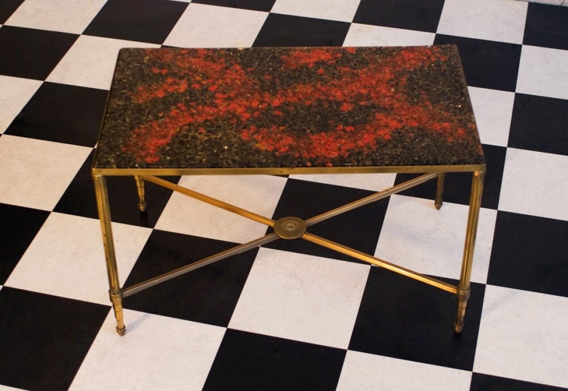 1970's vintage coffee table, unique selling antique piece
