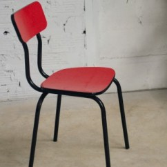 Vintage Kitchen Chairs Design Bistro 50 60s 1950 1960 Formica Red Black Colors Authentic Original