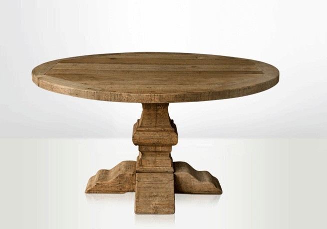 table cuisine ronde pied central