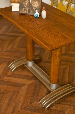 table bistrot vintage annees 30 1930 table de bistrot ancienne bois