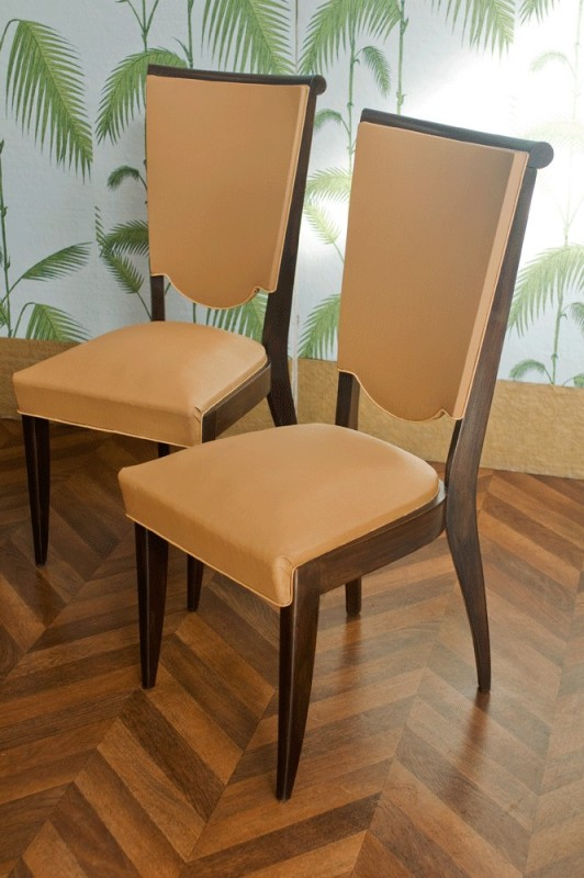 chaises vintage art dco annes 1930 1940 moleskine blanche annes 30 1930 50s