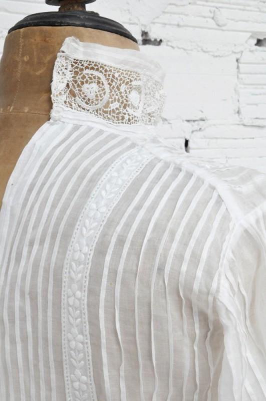 Chemisier vintage chemise dentelle style 1900 belle poque vetements de style classique