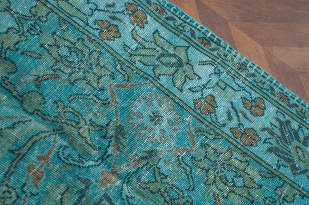 tapis ancien tapis turc tapis bleu bleu turquoise turquie fait main laine coton tiss main