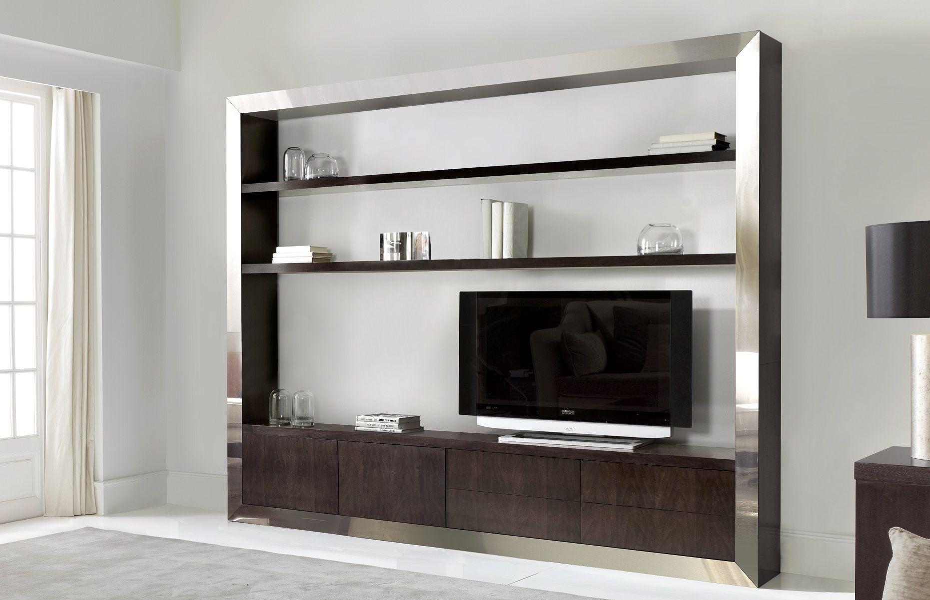 Mueble de televisin con acero