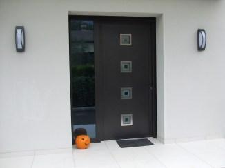 Photo porte d'entrée alu