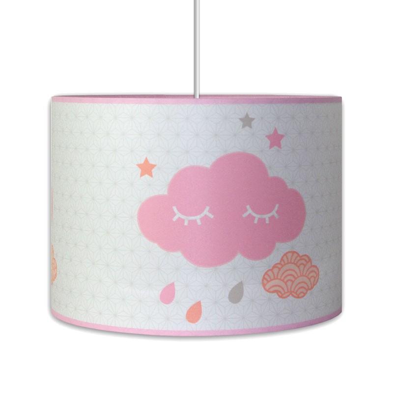 luminaire bebe nuage rose