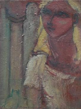 H72 (réservé)- Jeune fille à la colonne (33 x 24 cm)