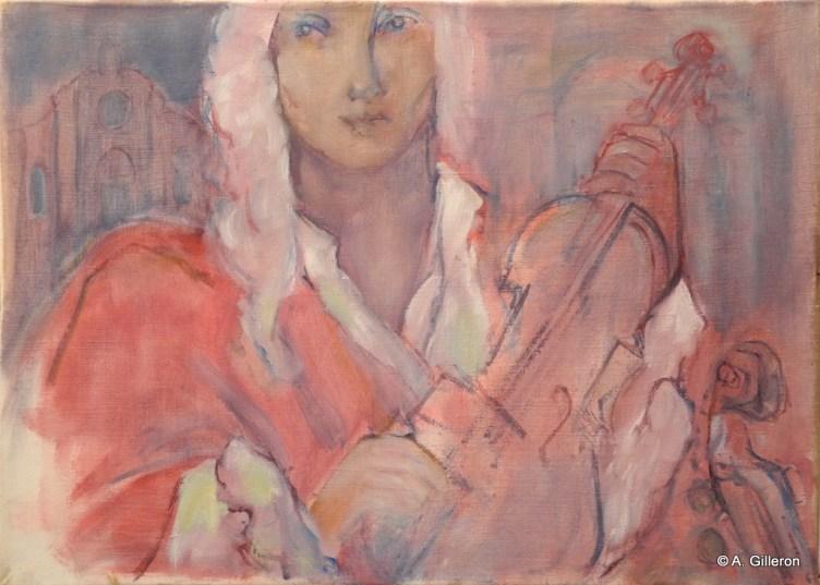H04 (réservé) - Vivaldi au violon (46 x 65 cm)