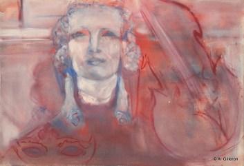 H30 (réservé) - Violoncelle et bas-relief (38 x 55 cm)
