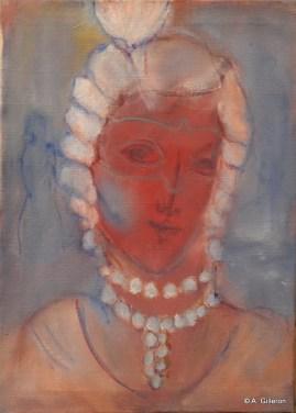 H49 - Femme au plumet (39 x 29 cm)