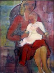 DA - Maternité au bébé blanc 92 x 73 cm02