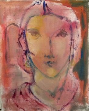 Des songes plein la tête Huile sur toile 33 x 22 cm