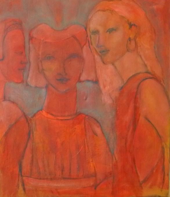 Allusion à Ucello Huile sur toile 55 x 46 cm