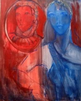 Contraste Huile sur toile 61 x 49 cm