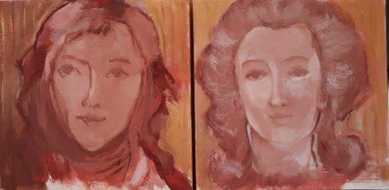 Les esquisses des portraits réalisés par Arlette