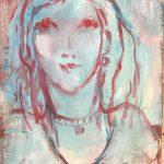 Buste au teint bleu