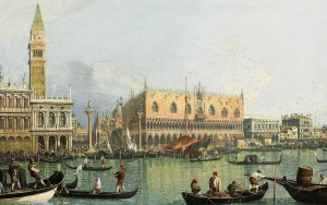 canaletto view of the palazzo ducale in venice