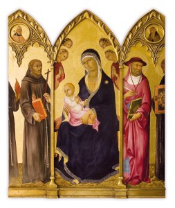sano di pietro madonna and child with saints triptych