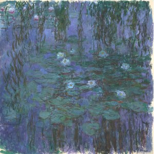 blue waterlilies - monet