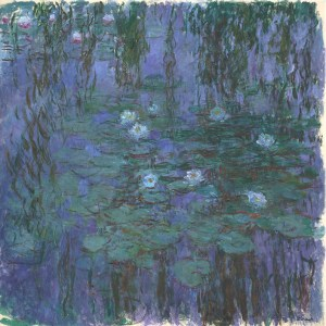 blue waterlilies - monet