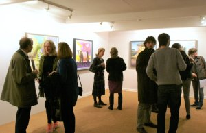 Group Eight by Eight, Private View, Fairhurst Gallery, Norwich. Photo by Katy Jon Went