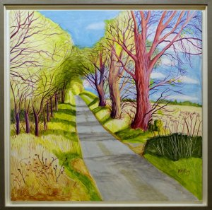 Artist Cornelia Fitzroy, Norfolk Lane, Acrylic. Photo by Katy Jon Went