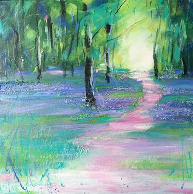 Artist Gillian Park, Bluebell Wood