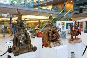 Artist Tanya Goddard, mixed media sculptures