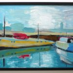 Artist Rory McShane, Harbour, Oil on board
