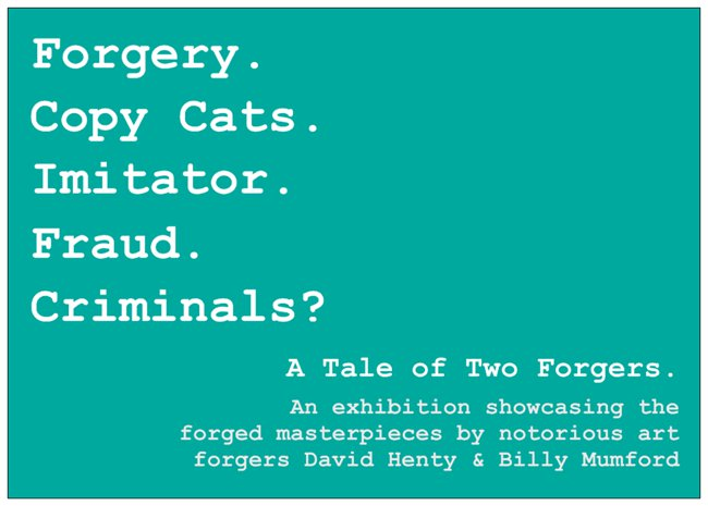 A Question of Attribution, David Henty & Billy Mumford, No Walls Gallery, Brighton
