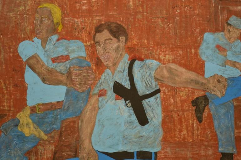 Bite your Tongue, Leon Golub en Museo Tamayo
