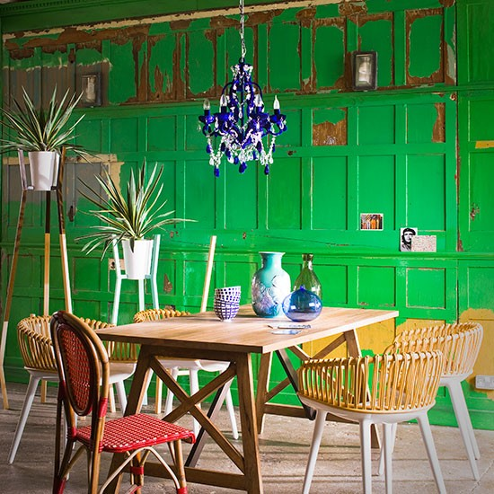 Dining Room Chairs Green