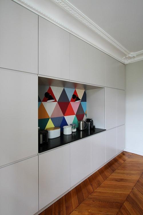 Apartamento colorido  Inspirao direto de Paris