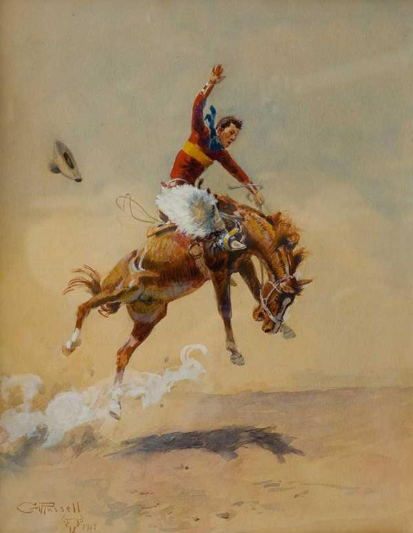 Russell Auction Of Western Art Wrangles Top