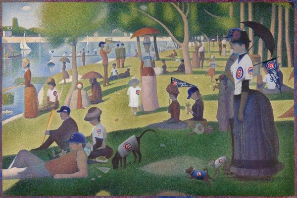 Art Institute of Chicago Famous Park Painting