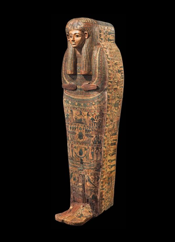 Safani Offer Rare Anthropoid Sarcophagus Lid