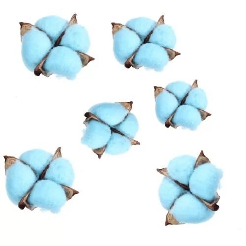 Bumbac capete albastru pastel