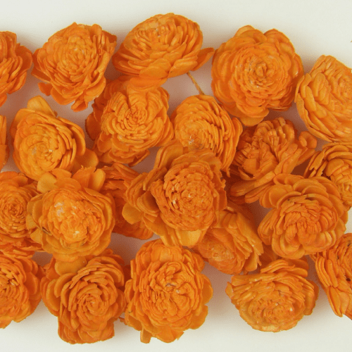 Capete flori Ming Portocaliu set